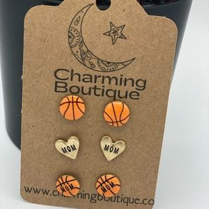 Boutique Mom Basketball Earrings